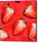 Strawberry Slice Food Still Life Acrylic Print