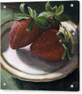Strawberry Still Life Acrylic Print