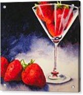 Strawberrytini Acrylic Print