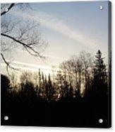 Streaks Of Clouds In The Dawn Sky Acrylic Print