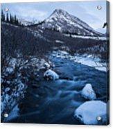 Mountain Stream In Twilight Acrylic Print