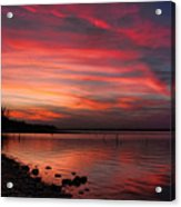 Streaming Sunset Acrylic Print