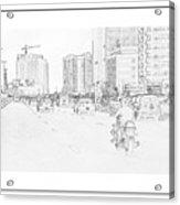 Street Activities Acrylic Print