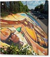 Street Art At Washington D.c. - Cultivating The Rebirth 3 Acrylic Print
