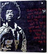 Street Art - Jimmy Hendrix Acrylic Print