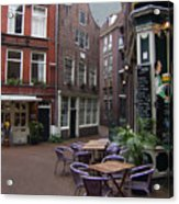 Street Cafe Mooy In Amsterdam Acrylic Print