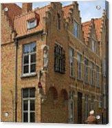 Street Corner In Bruges Belgium Acrylic Print