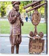 Street Entertainer - La Rambla - Barcelona Spain Acrylic Print