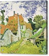 Street In Auvers Sur Oise Acrylic Print