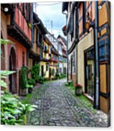 Street In Eguisheim, Alsace, France Acrylic Print