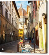 Street In Florence Acrylic Print