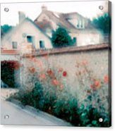 Street In Giverny, France Acrylic Print