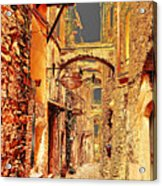 Street In Old Town. Acrylic Print