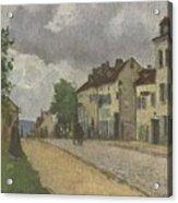 Street In Pontoise Strabe In Pontoise Camille Pissarro Acrylic Print