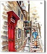 Street In Robin Hoods Bay 01 Acrylic Print