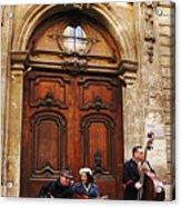 Street Jazz Paris France Acrylic Print