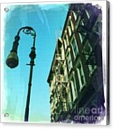 Street Lamp And Fire Escape Acrylic Print