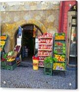 Street Market, Prague Acrylic Print