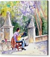 Street Musician In Pollenca Acrylic Print