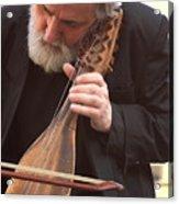 Street Musician In Venice Acrylic Print
