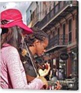 Street Musicians Acrylic Print