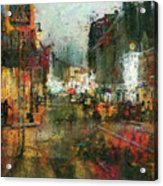 Street Night Light Acrylic Print