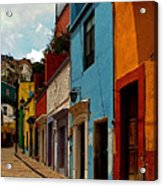 Street Of Color Guanajuato 3 Acrylic Print