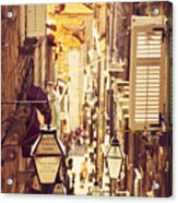 Street Of Dubrovnik Old Town Acrylic Print