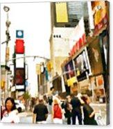 Street Of New York City Acrylic Print