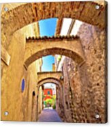 Street Of Sirmione Historic Architecture View Acrylic Print