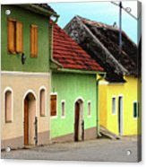 Street Of Wine Cellar Houses  Acrylic Print by Mariola Bitner