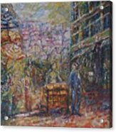 Street Peddler - Kl Chinatown Acrylic Print