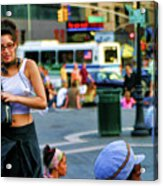 Street Photography Nyc Paint  Acrylic Print
