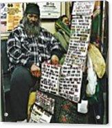 Street Preacher On The A Train Acrylic Print