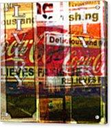 Street Print Acrylic Print by MW Robbins