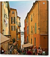 Street Scene In Villefranche Acrylic Print