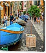 Street Scene Manarola Italy Dsc02634 Acrylic Print