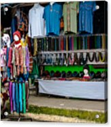 Street Shops At Ataco Acrylic Print