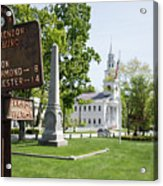 Street Sign In Fitzwilliam, New Hampshire Acrylic Print