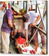 Street Vendors 1 Acrylic Print