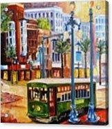 Streetcar On Canal Street Acrylic Print