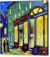 Streets At Night Acrylic Print