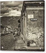 Streets Of Antigua - Guatemala Acrylic Print