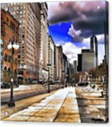 Streets Of Chicago Acrylic Print