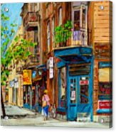 Streets Of Montreal Over 500 Prints Available By Montreal Cityscene Specialist Carole Spandau Acrylic Print
