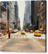 Streets Of New York Acrylic Print