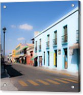 Streets Of Oaxaca Mexico 4 Acrylic Print