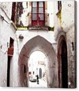 Streets Of Ostuni Acrylic Print