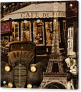Streets Of Paris Acrylic Print