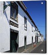 Streets Of Ribeira Grande Acrylic Print